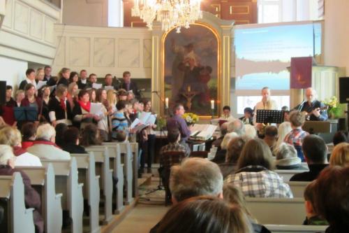 Chorauftritt im Gottesdienst